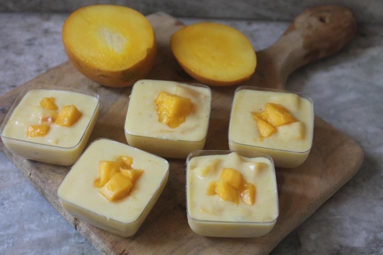Mango Custard Recipe – Mango Custard using Cornflour