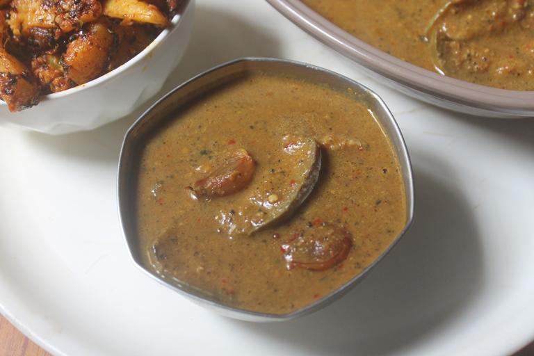Kathirikai Milagu Kuzhambu Recipe – Brinjal Pepper Kuzhambu Recipe
