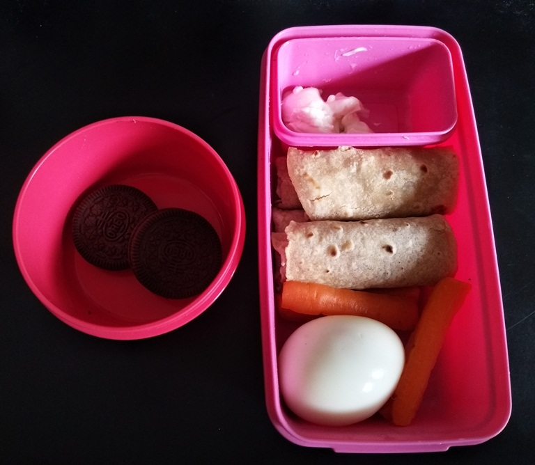Roti, Veggies, Egg & Dip – Kids Lunch Box Ideas 5