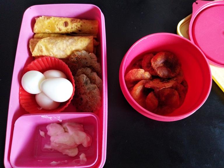 Carrot Chapati, Quail Egg, Potato Patties – Kids Lunch Box 8