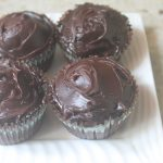 Chocolate Cupcakes with Ganache Icing