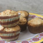 Eggless Whole Wheat Vegetable Muffins Recipe