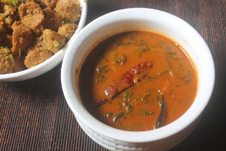Vendaya Keerai Puli Kuzhambu Recipe – Fenugreek Leaves Puli Kulambu Recipe