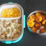 Salted Sweet Corn, Banana Roast & White Sauce Macaroni Recipe – Kids Lunch Box Ideas 20