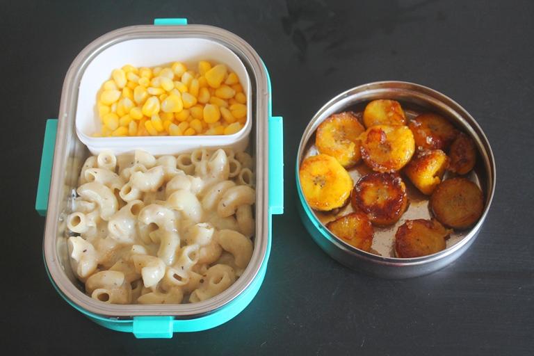 White Sauce Macaroni Recipe Cinnamon Bananas Kids Lunch Box Ideas