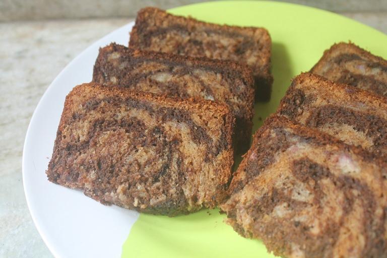 Chocolate Banana Swirl Cake Recipe