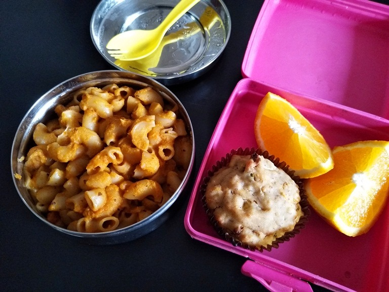 Veggie Pasta & Muffins – Kids Lunch Box Ideas 14