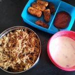 Pulao with Raita & Paneer Fingers – Kids Lunch Box Ideas 16