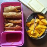 Chapati, French Fries & Fruit- Kids Lunch Box Ideas 17