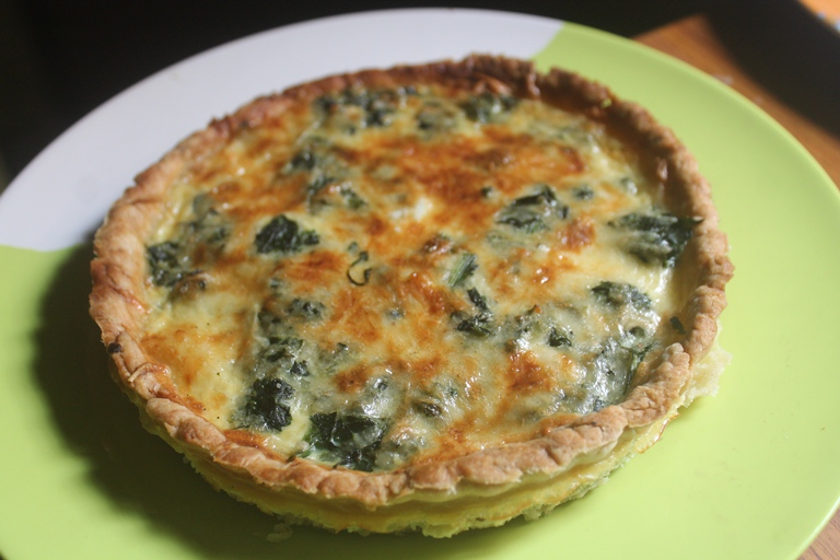 Spinach, Potato & Cheese Quiche Recipe