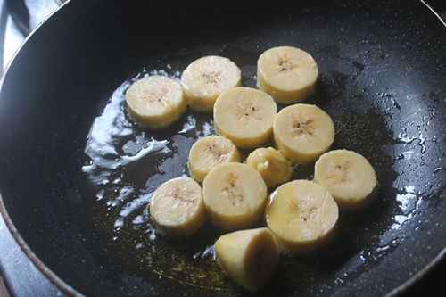 how to cook bananas in a pan