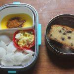 Mini Idli, Scrambled Eggs & Chocolate Chip Cake – Kids Lunch Box Ideas 22