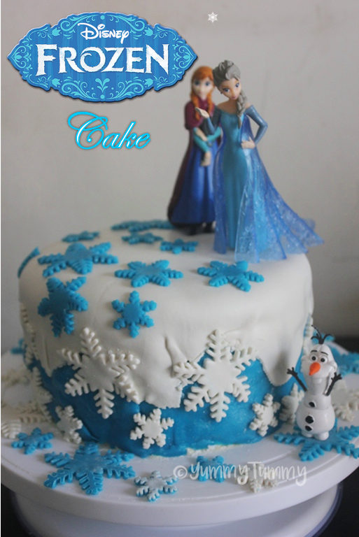 Brilliant Frozen Themed Fondant Birthday Cake Recipe Frozen Cake Ideas Funny Birthday Cards Online Fluifree Goldxyz