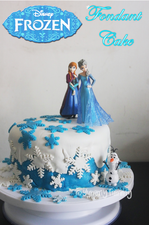 Astonishing Frozen Themed Fondant Birthday Cake Recipe Frozen Cake Ideas Funny Birthday Cards Online Alyptdamsfinfo