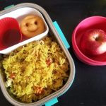 Stir Fry Egg Veg Rice, Potato Smiley – Kids Lunch Box Ideas 23