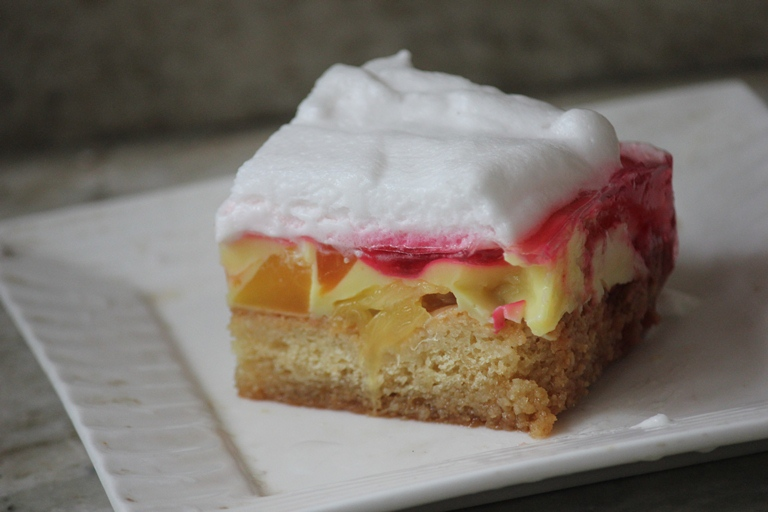 Custard Jelly Fruit Cake Recipe