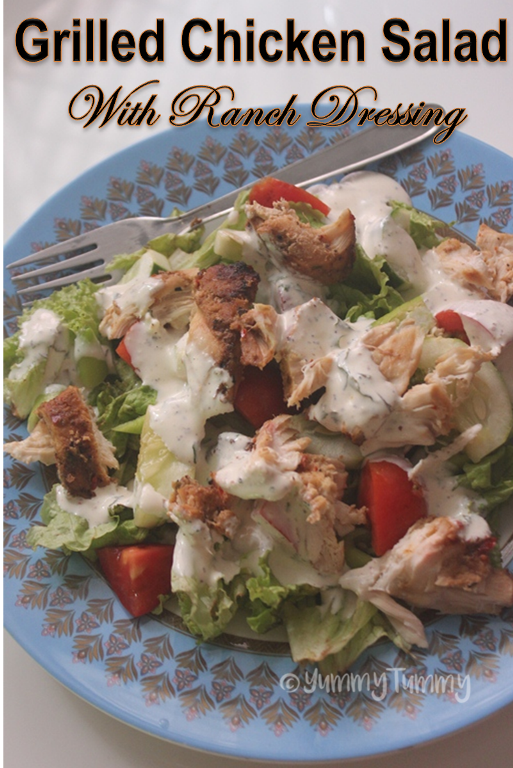 Grilled Chicken Salad With Ranch Dressing Ranch Chicken Salad