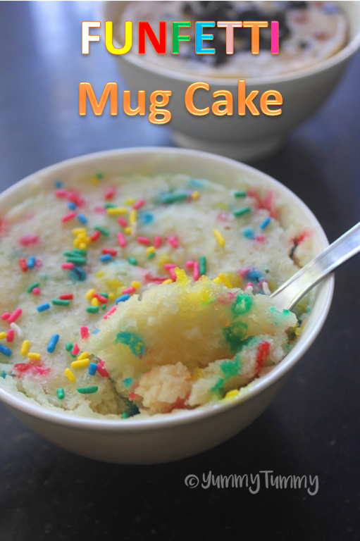 Funfetti Mug Cake Recipe Eggless Mug Cake Recipe