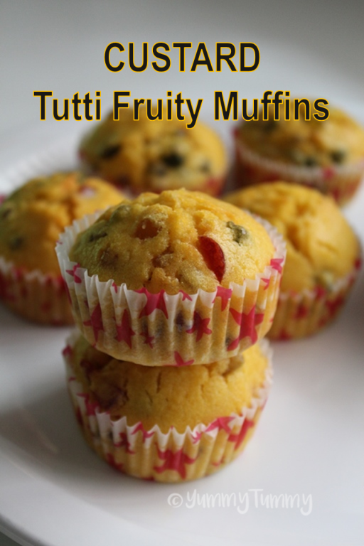 Custard Tutti Fruity Muffins Recipe