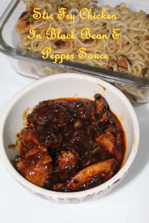 Stir Fry Chicken In Black Bean Black Pepper Sauce