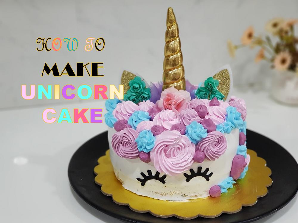 Awe Inspiring How To Make Unicorn Cake Unicorn Themed Birthday Cake Birthday Cards Printable Giouspongecafe Filternl
