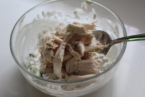 chicken crostini
