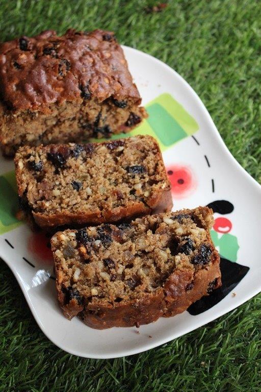Whole Wheat Eggless Fruit Amp Nut Cake Recipe Christmas