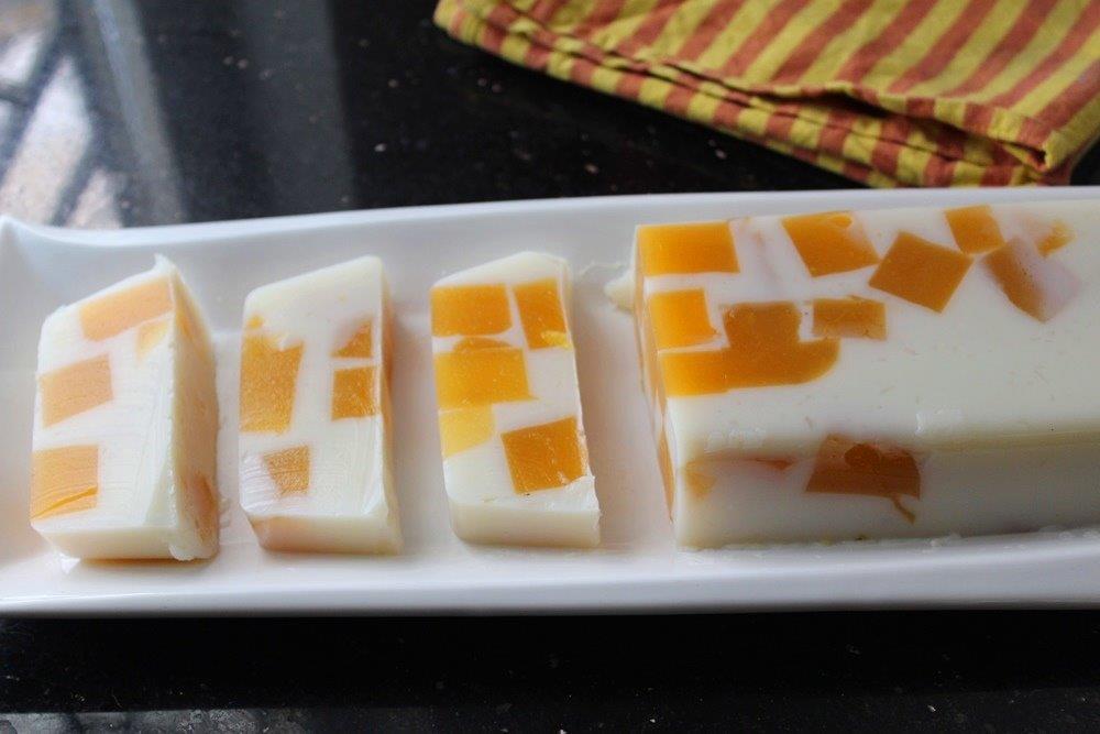 Broken Glass Mango Jello