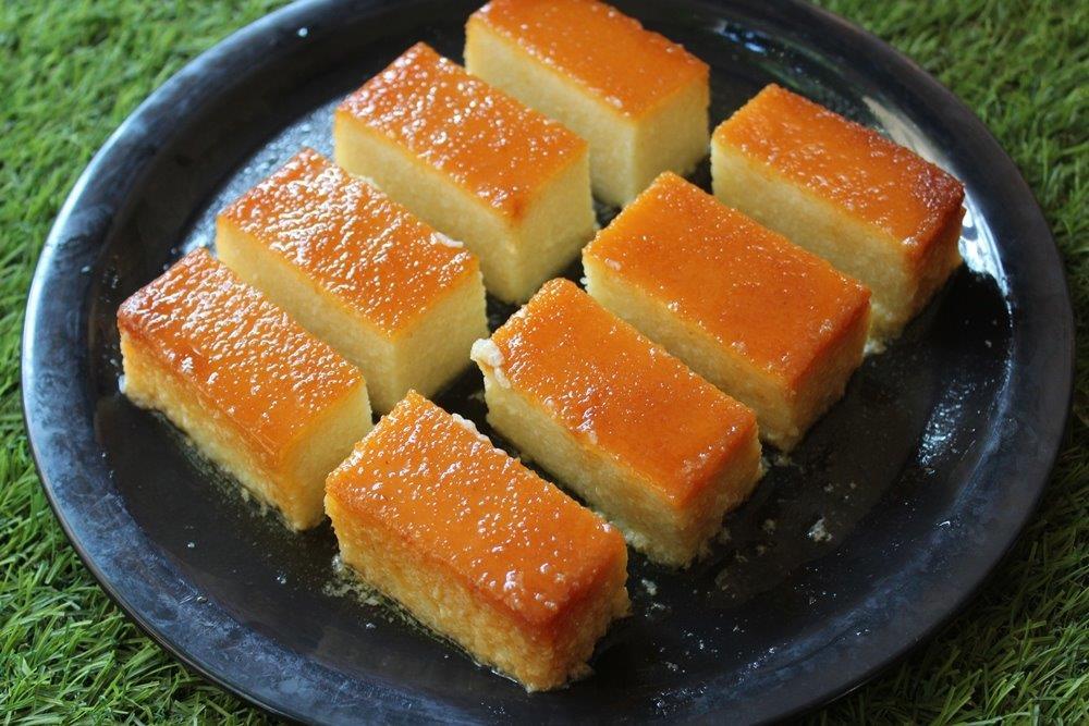 Caramel Rava Pudding Recipe
