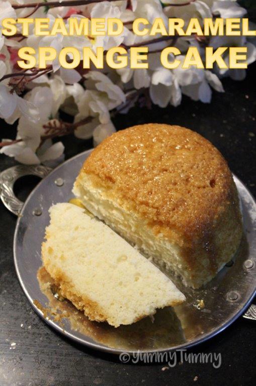 Steamed Caramel Sponge Cake