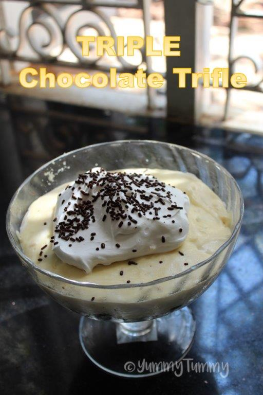 Receita Trifle de Chocolate Triplo