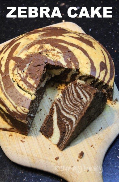 Melhor bolo de mármore de sempre - bolo de zebra