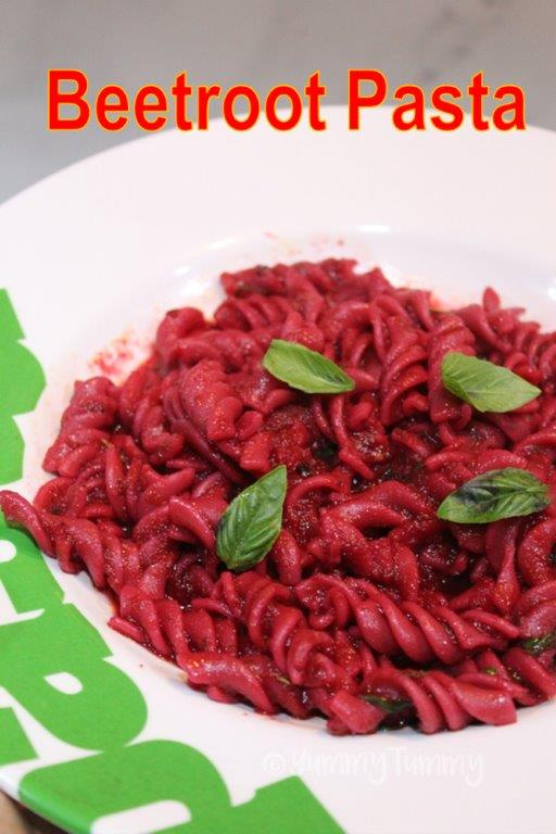 Whole Wheat Beetroot Pasta