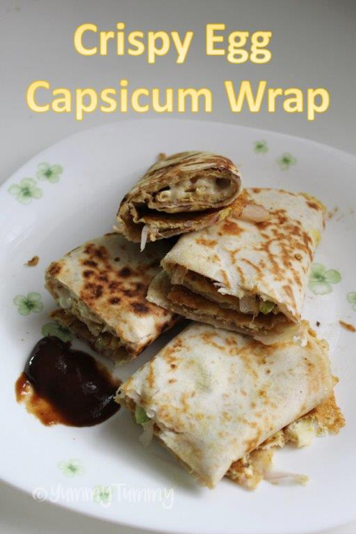 Rolos de Capsicum de Ovos Crocantes