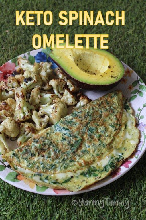 Keto Spinach Cheese Omelette Recipe
