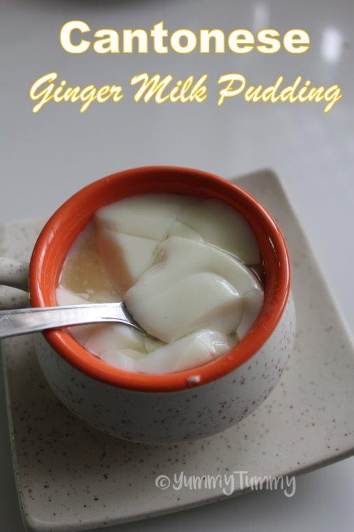 Pudim de leite de gengibre cantonês