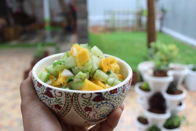 Mango Cucumber Salsa passo 10