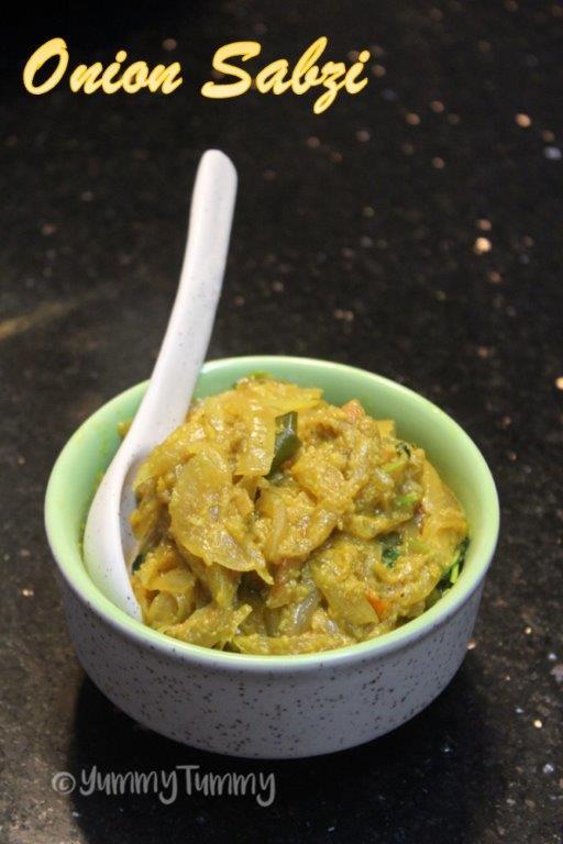 Curry de cebola para chapati
