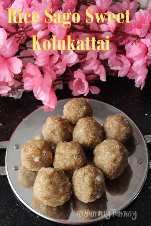 Receita de arroz sagu doce kolukattai