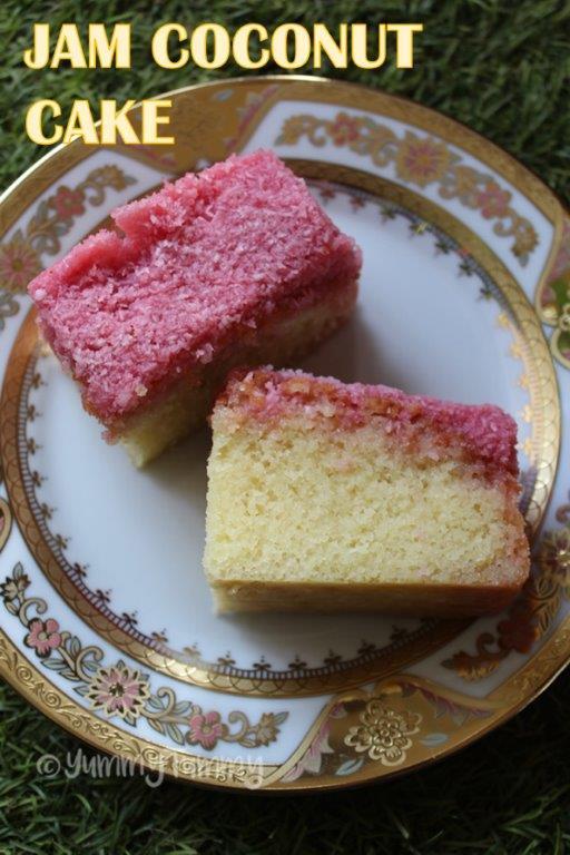 Jam Coconut Cake